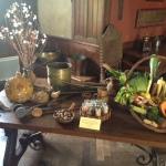 Ustensiles et légumes utilisées à l'époque