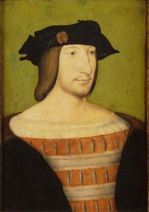 François Ier (1494-1547), fils de Charles de Valois-Orléans et de Louise de Savoie (portrait de Jean Clouet).