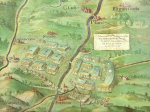 La bataille de Fornoue représentée dans la galerie des cartes géographiques au Vatican.