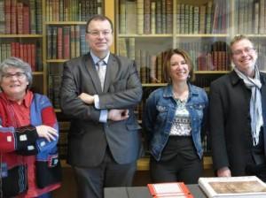 Martine Vallon (conservatrice du Musée de Sologne), Didier Guénin (1er adjoint au maire), Stéphanie Marquès (9e adjoint au maire) et Yannick Cordonnier (président de R2V2).