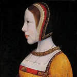 Maître de la légende de Sainte-Madeleine, Isabelle d'Autriche, v. 1515. Musée de Cracovie. Profil du chaperon à la française avec oreillettes et cornette (queue)